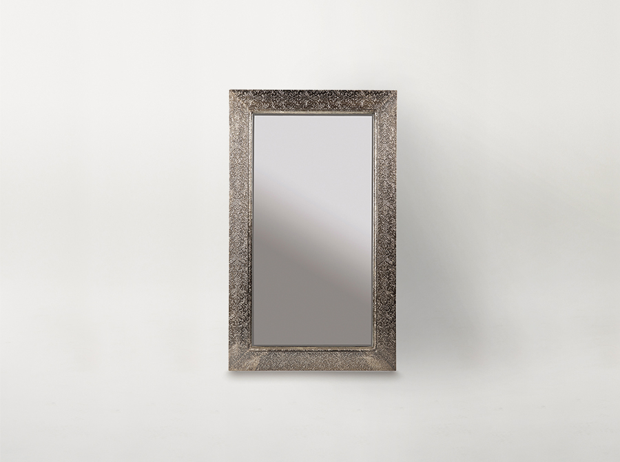 Embossed Metal Frame Mirror - Small