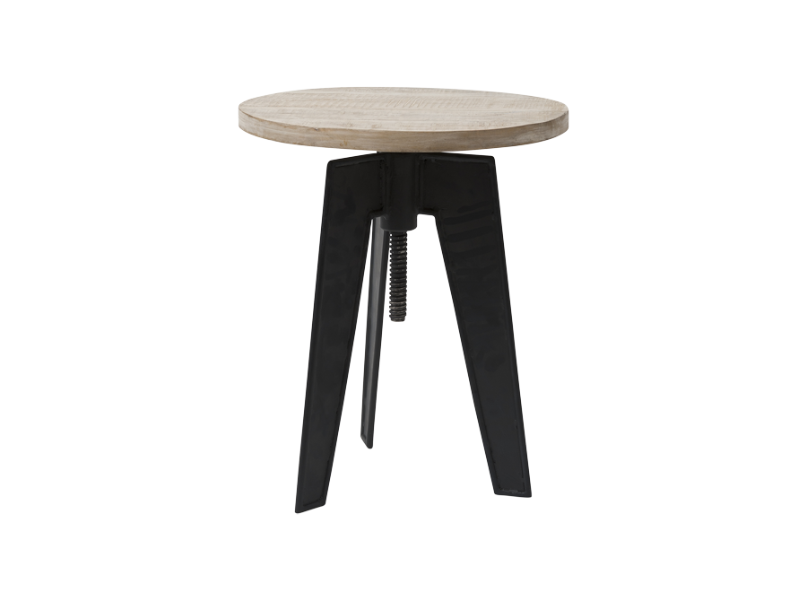 Iron Amp Wooden Extension Stool Side Table Corso De Fiori Curators Of A Fascinating World
