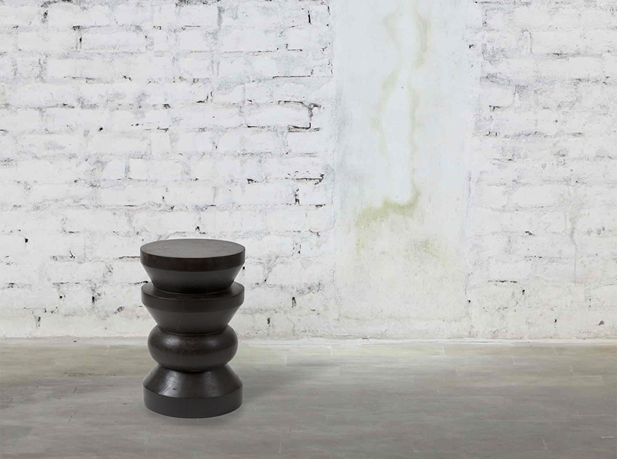 Wooden Taper Stool/Side Table – Dark