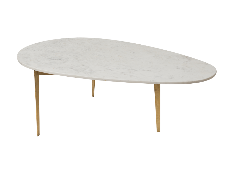 Kidney Bean Marble Coffee Table With Gold Leaf Corso De 39 Fiori Curators Of A Fascinating World