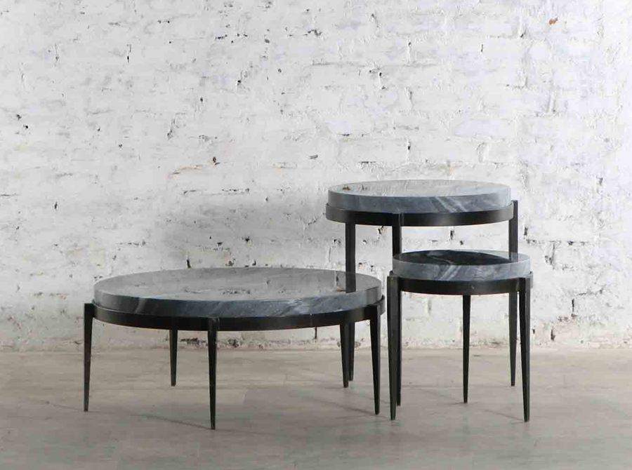 Corso Tangier small side table w/ black marble