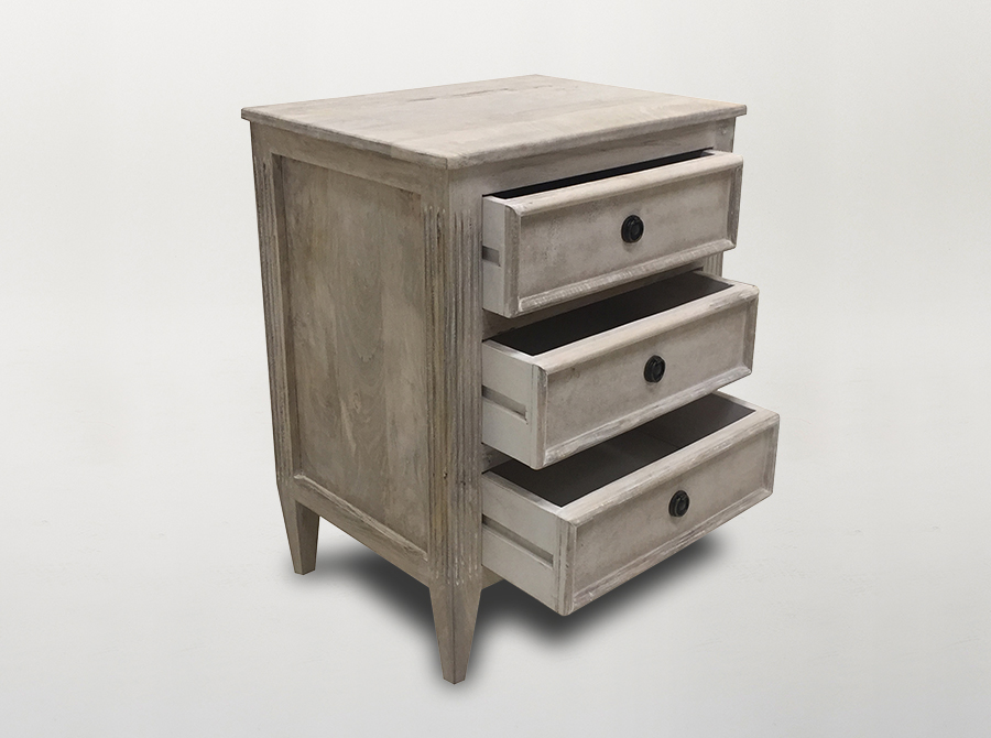 COMING SOON  |  Corso Maison 3 Drawer Bedside Table