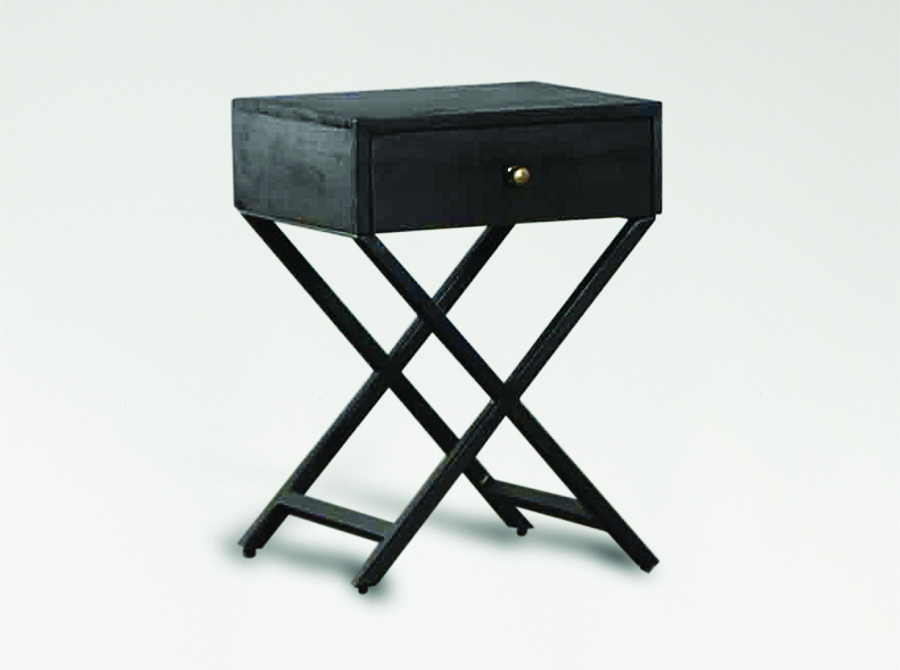 Corso Odessa Black Stain Bedside Table