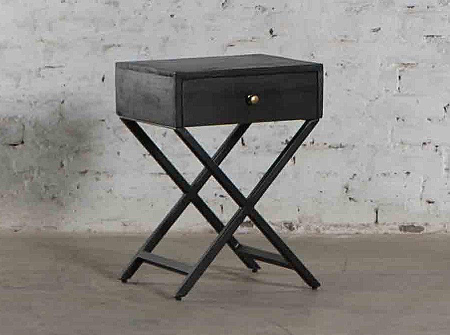 COMING SOON  |  Corso Odessa Black Stain Bedside Table