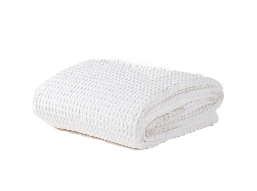 Cialda Washed Waffle Bedspread White