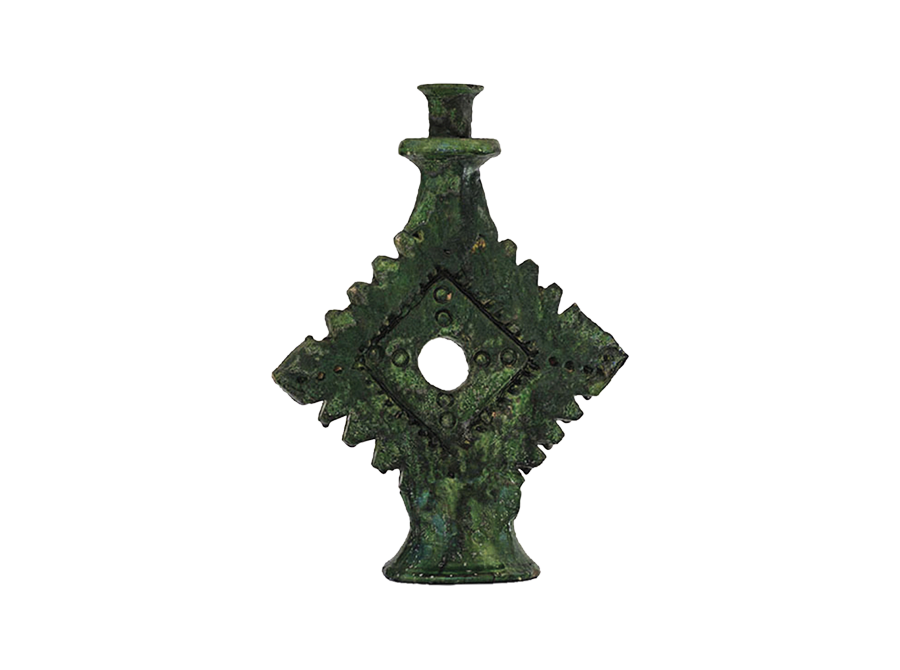 Moroccan green ornamental candle holder