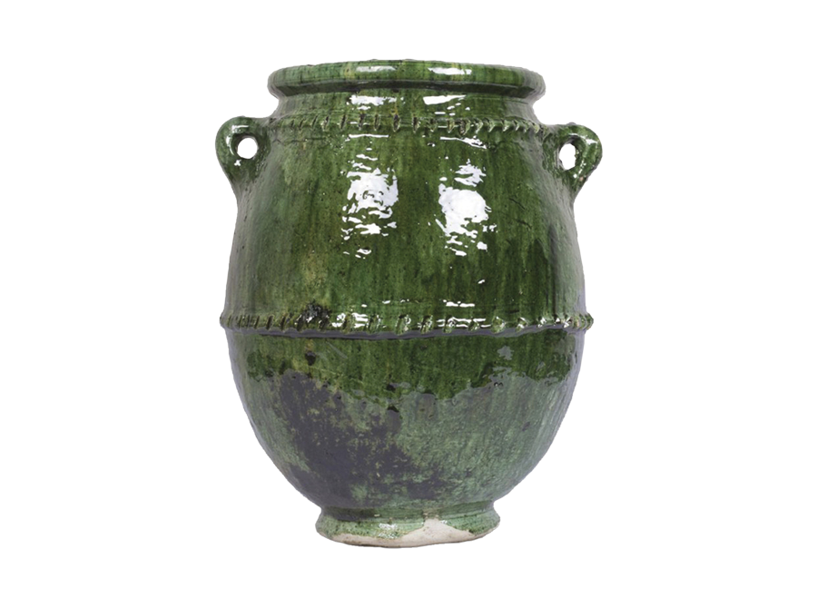 Moroccan green urn – large