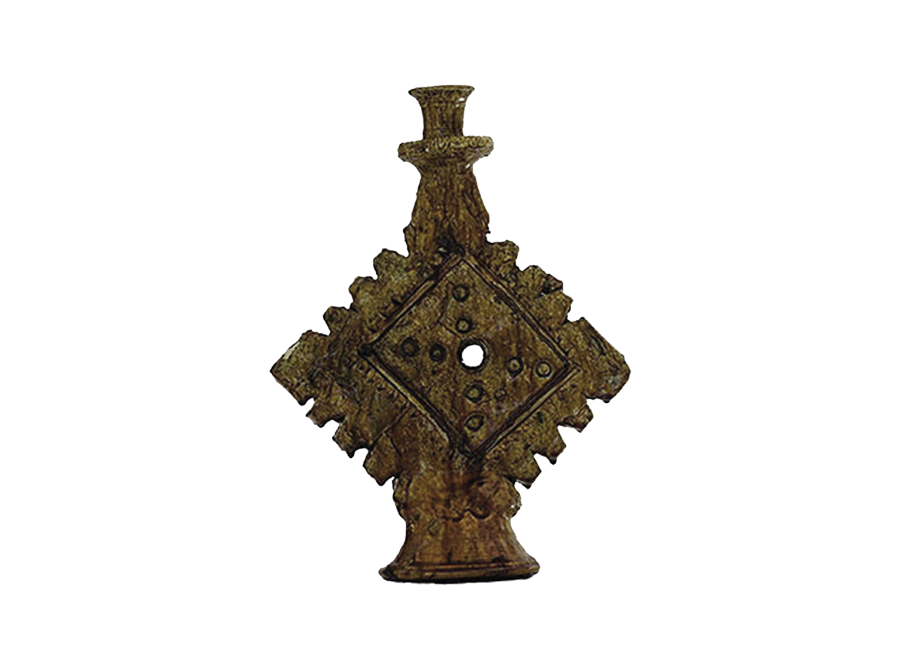 Moroccan mustard ornamental candle holder