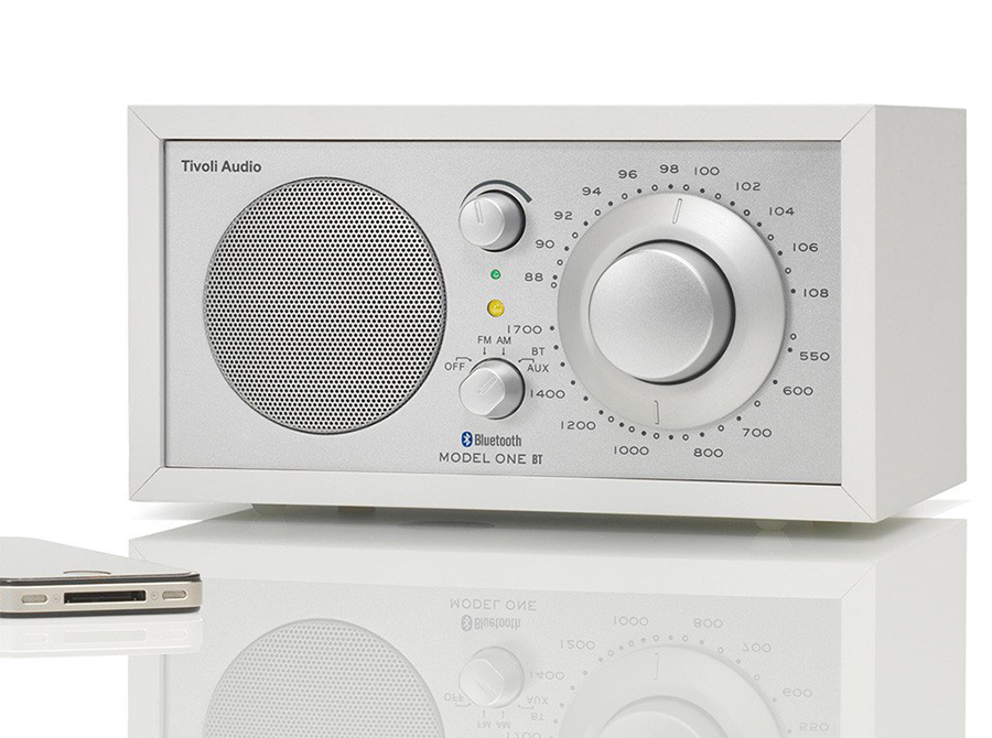 Tivoli Model One Bluetooth/AM/FM Radio (Silver/White)