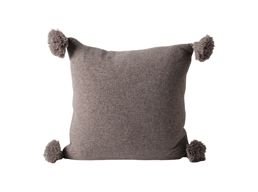 MARL KNITTED WOOL BLEND CUSHION COVER – DATE