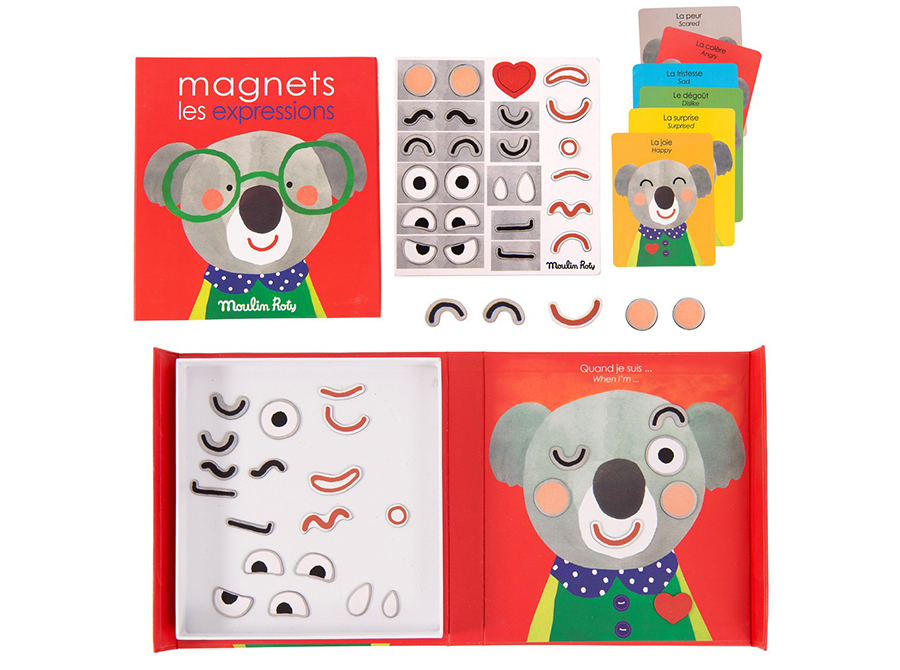 Moulin Roty Les Popipop Expressions magnetic game