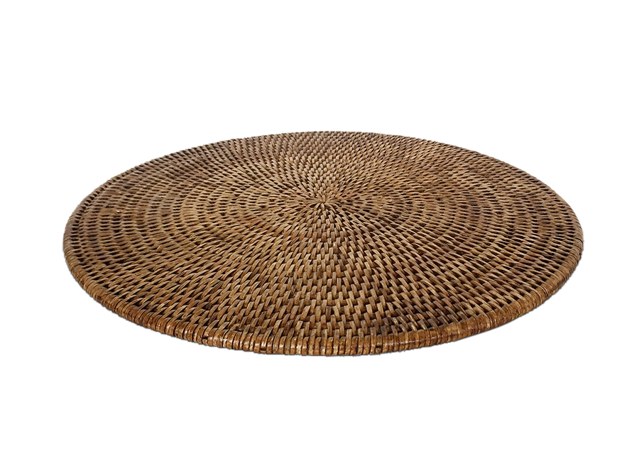 Rattan round placemat