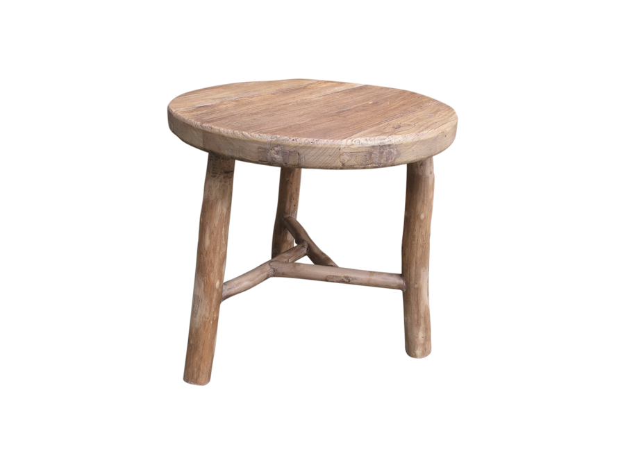 CORSO BRUSHED WOOD SMALL ROUND TABLE