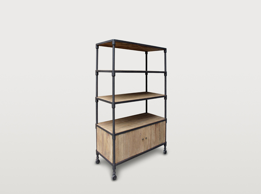 Corso Industrial library cabinet