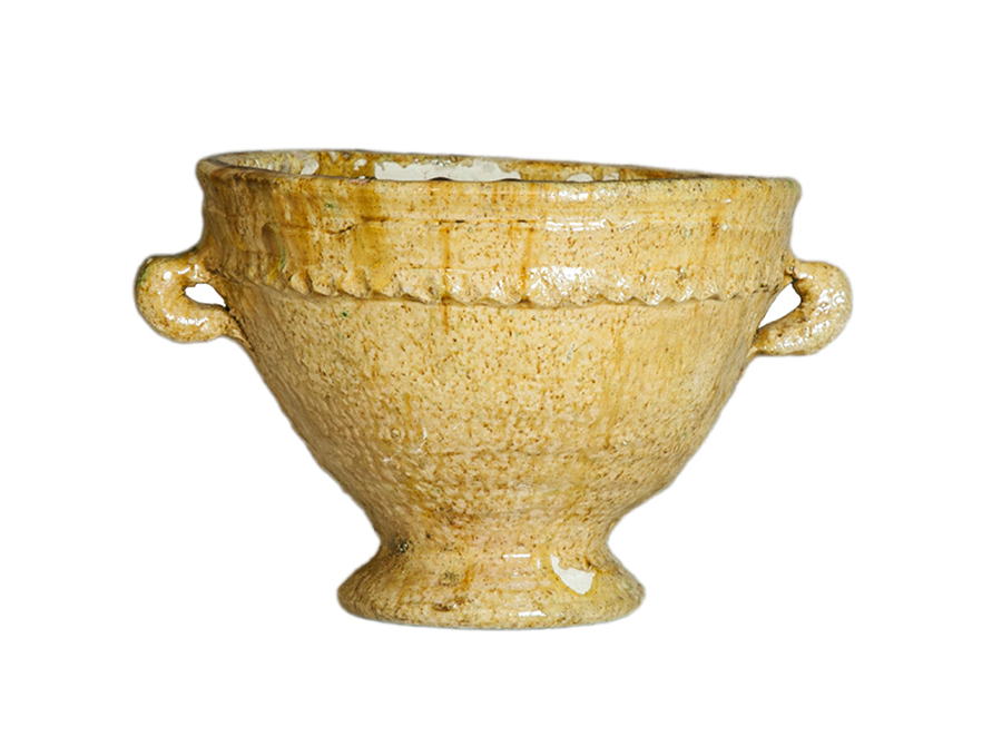 Moroccan mustard plant pot - large