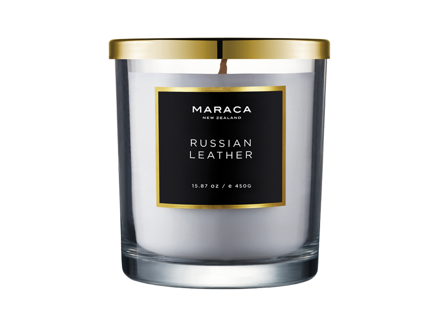 MARACA RUSSIAN LEATHER SCENTED CANDLE