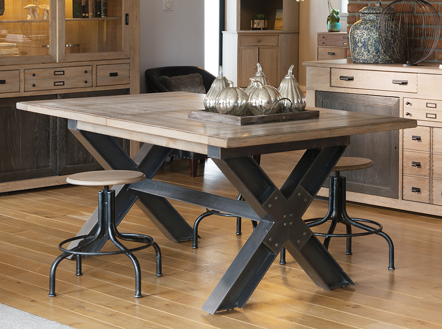 Artcopi Séjour Cross Base Dining Table