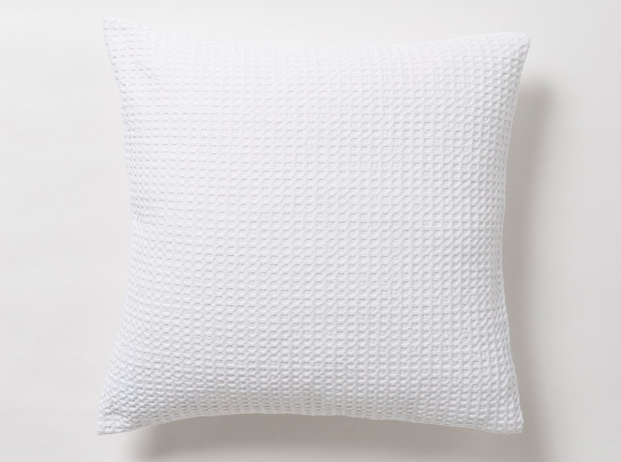 Cialda Washed Waffle Euro Pillowcase - White