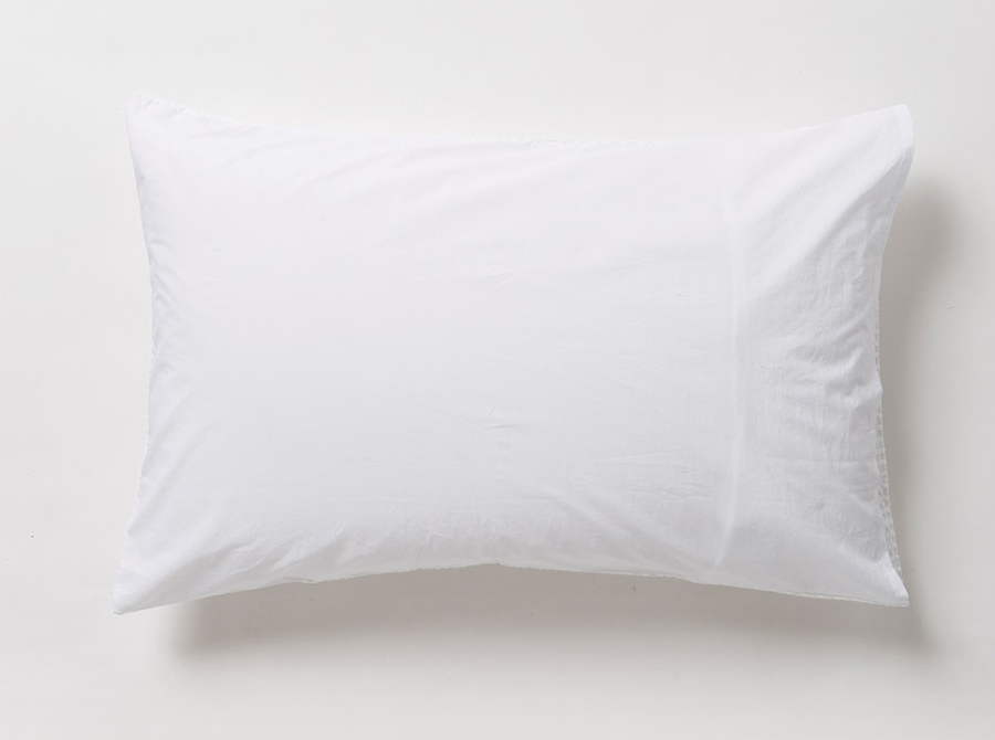 Cialda Washed Waffle Pillowcase Pair - White