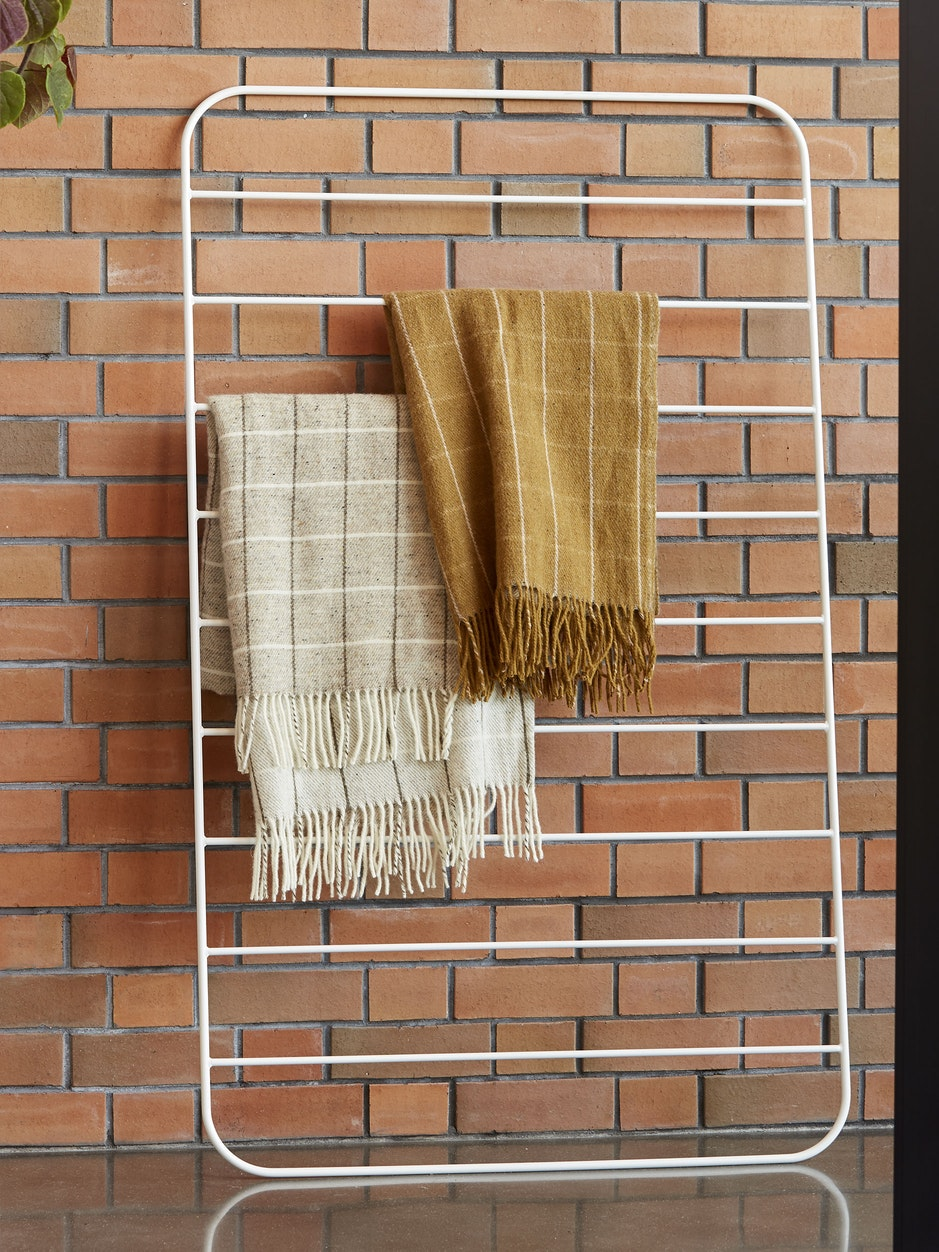 Grid Wool Throw w/Fringe - Zion/Vanilla