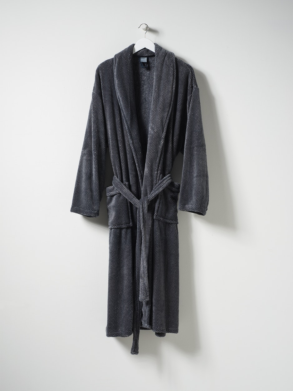 Herringbone Men's Dressing Gown