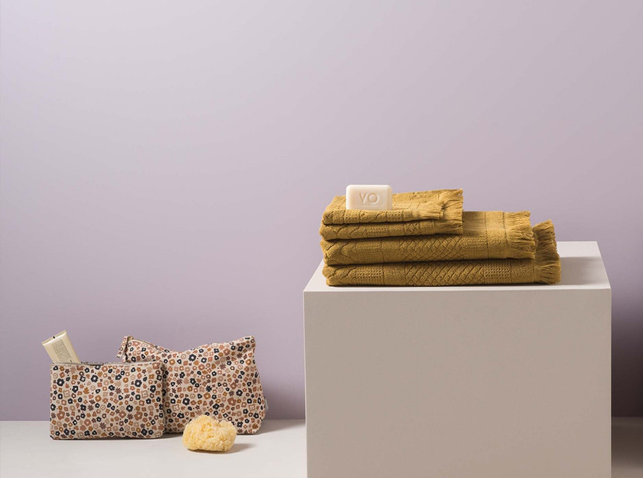 Citta Jacquard Cotton Towel Range - Citron