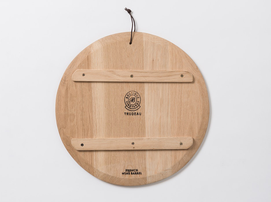 Trudeau Round Serving Board with Feet