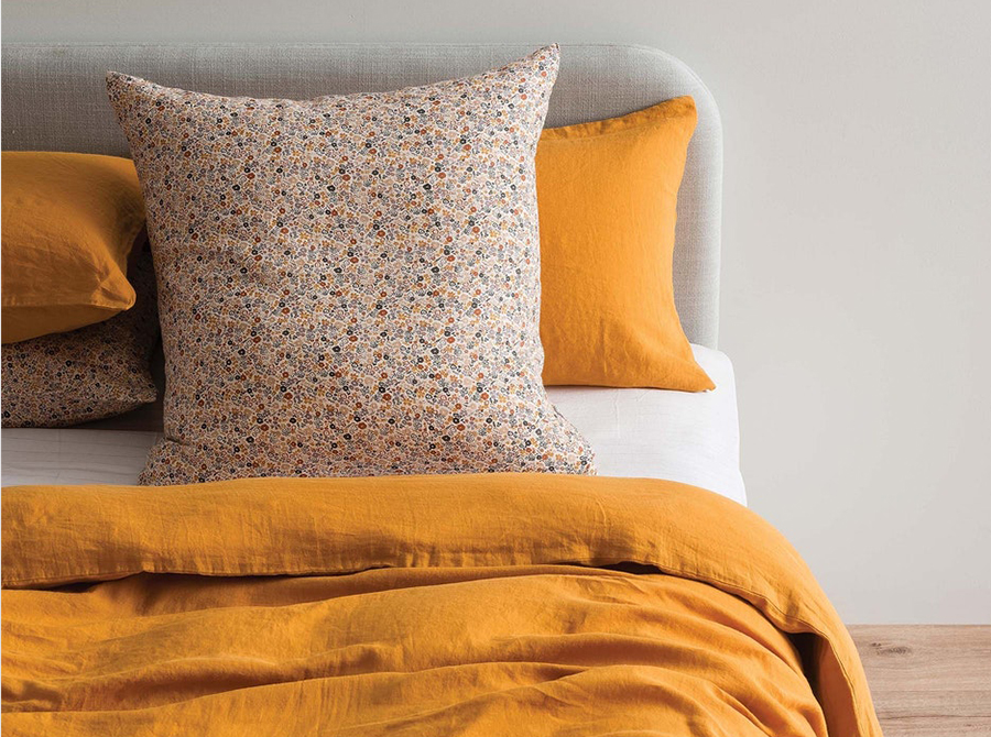 Sove Linen Pillowcase Pair - Pumpkin