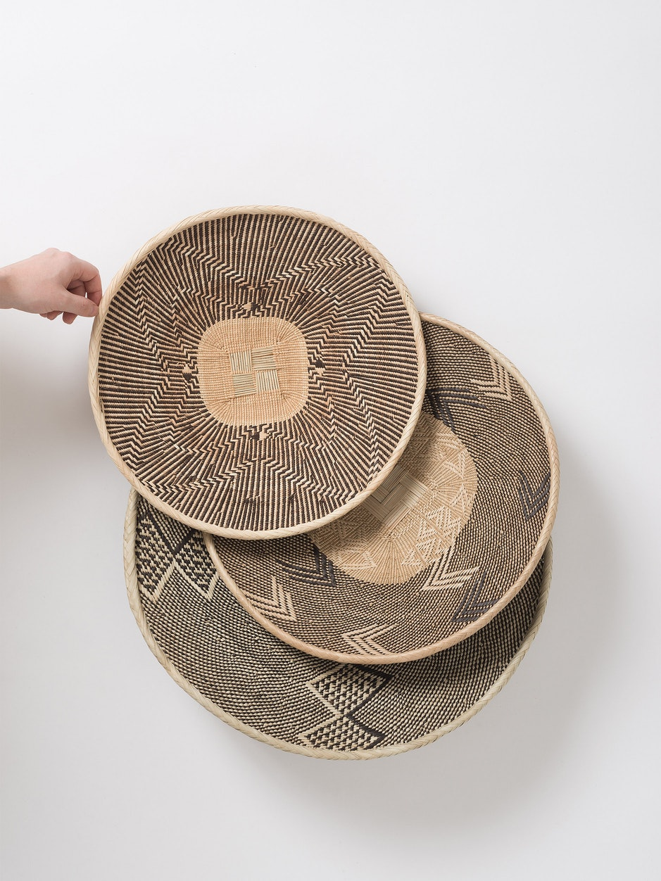 Traditional Binga Flat Basket - Patterned
