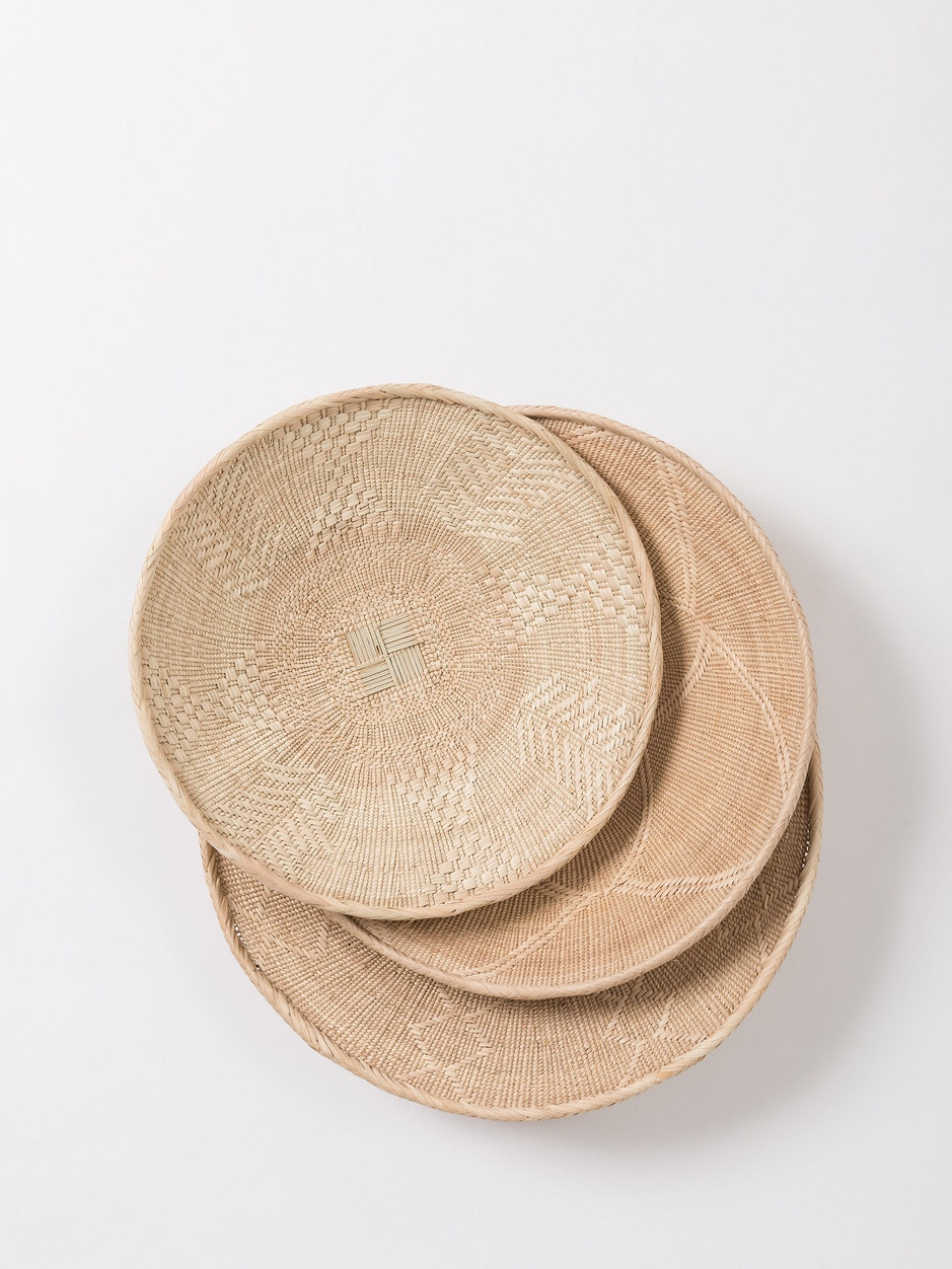 Traditional Binga Flat Basket - Plain